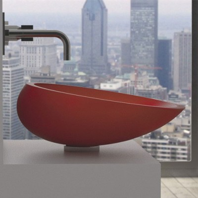 glassdesign-lavabo-kool-red-mat
