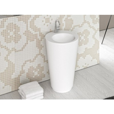 Planit Trench lavabo a colonna in Corian TRENCH