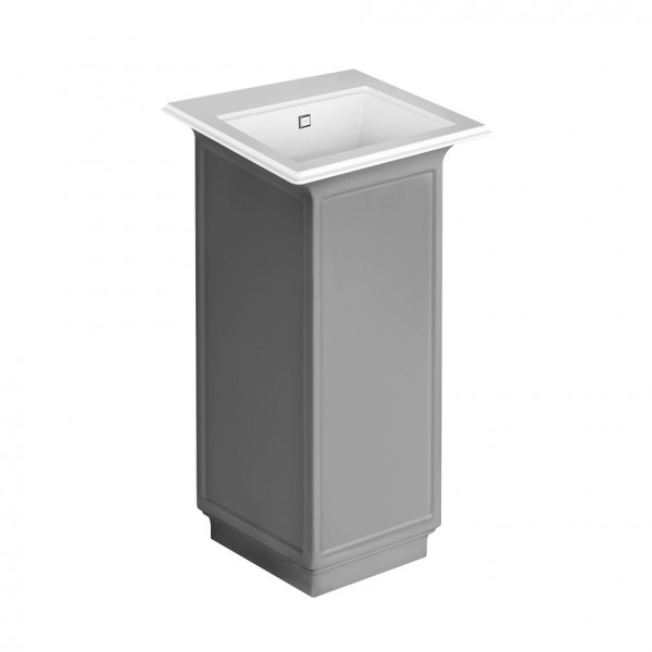 <p>Gessi Eleganza, Freestanding sink in Cristalplant® (matt white finish).</p> <p>External lacquering.</p> <p><strong>Overflow waste included</strong>. Overflow cap in chrome 031 finishing.</p> <p><strong>Wall drainage</strong>. Grille-plug and